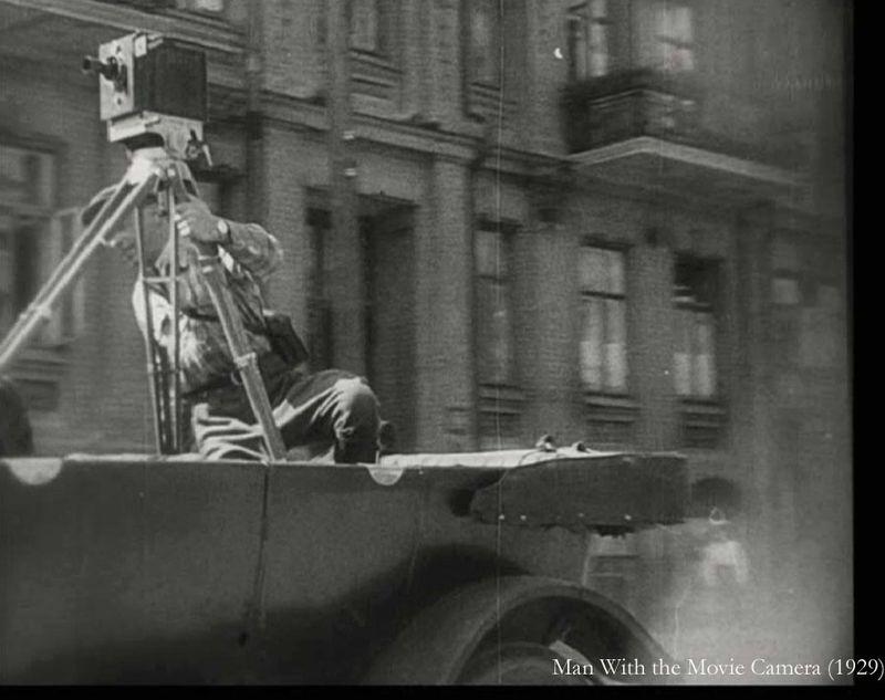 Man camera car