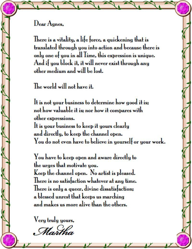 Dear agnes